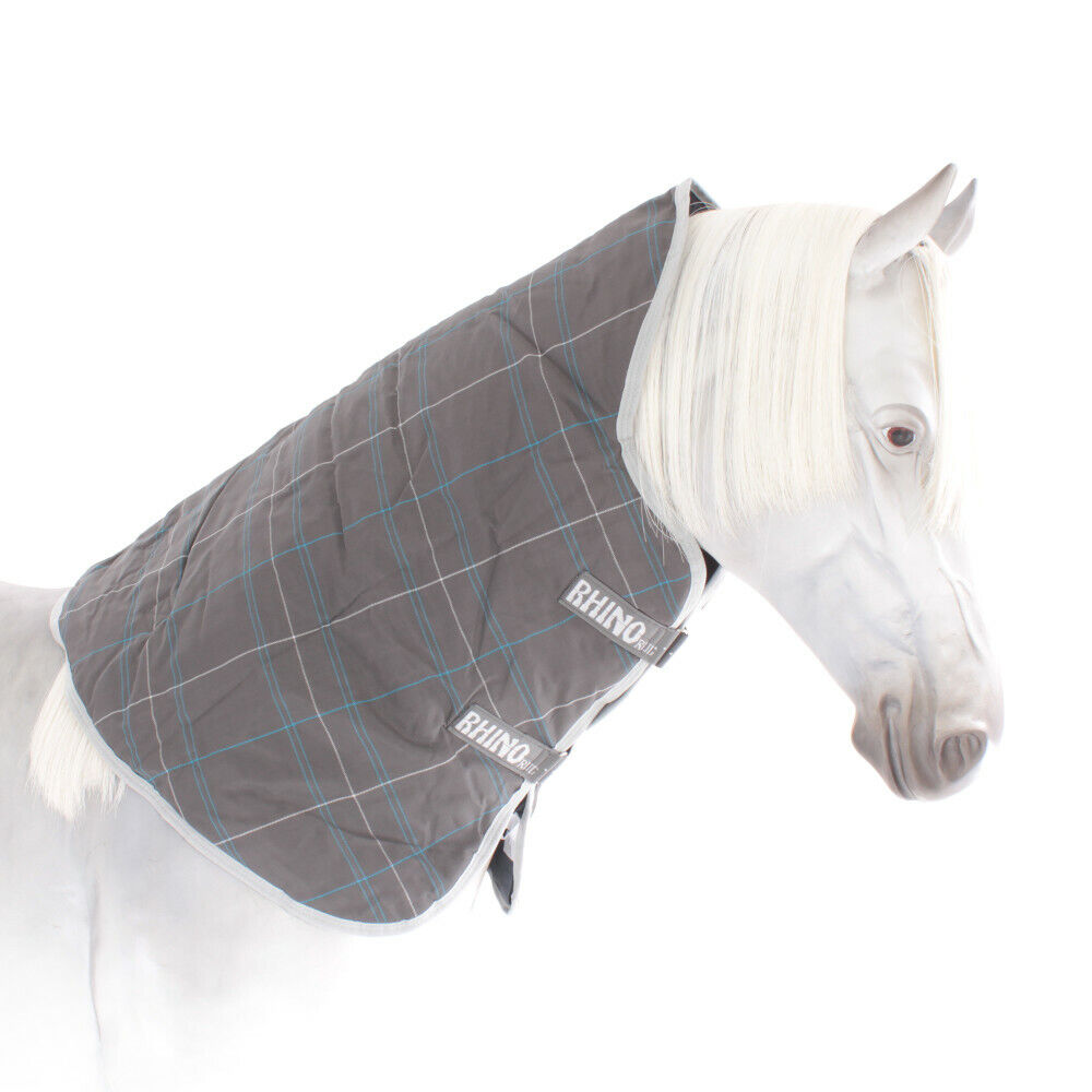 Horseware Rhino Turnout Hood 0g - Char Blau Weiß - Halsteil