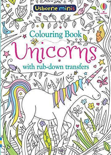 Colouring Book Unicorns with Rub-Down Transfers (Usborne Minis) by Sam Smith, NE