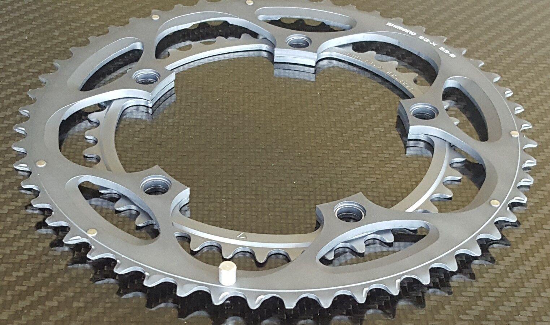 2x Shimano Ultegra 6600 INGRANAGGI (39 + 53 T) 130 mm BCD (10 S) Strada Bicicletta (NUOVO)