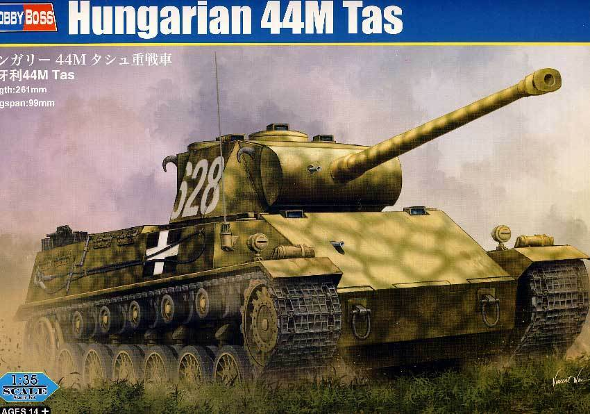 Hobbyboss - Hungarian 44M Tas 75mm (88mm) Tank 1 3 5 Model Kit Solid Hungary
