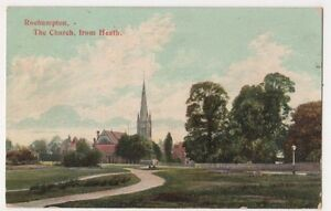Roehampton-The-Church-from-Heath-Postcard-B689