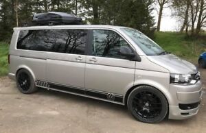 VW-Transporter-T5-T4-LWB-Side-Stripes-Graphics-Stickers-Volkswagen-Any-colour