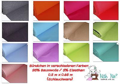 Bündchen - versch. Farben UNI - Schlauchware Bündchenstoff glatt