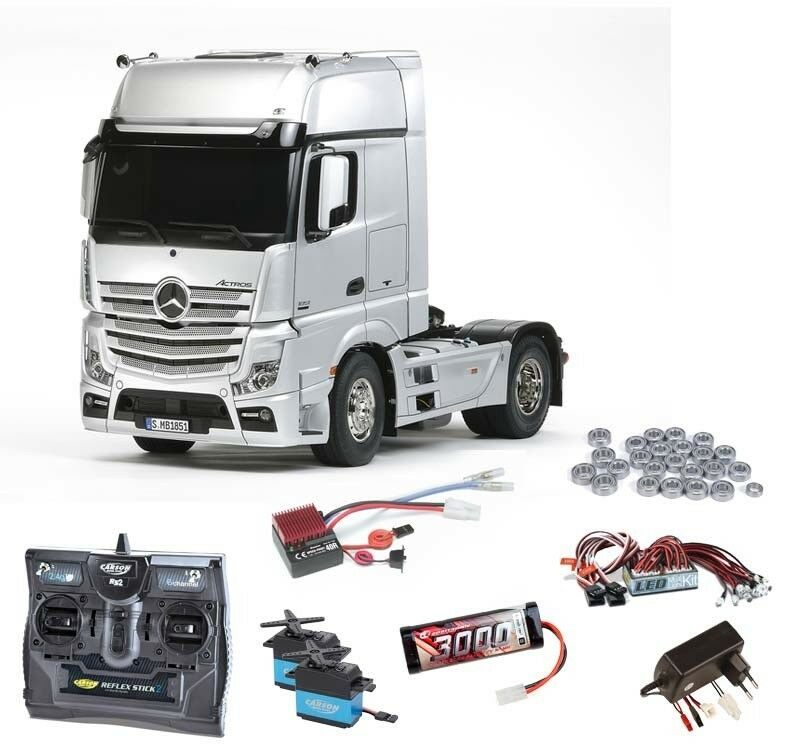 TAMIYA Mercedes Benz Actros 1851 SET COMPLETO + LED, Cuscinetti a sfere - 56335set2