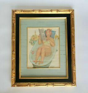 Vintage DUANE BRYER Original Watercolor Painting of HILDA Character