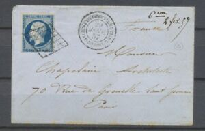 1857-env-N-14-Obl-Grille-Corps-expeditionnaire-d-039-Italie-1er-division-X2713