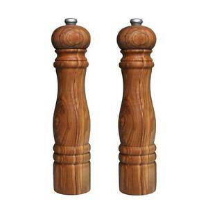 Image Is Loading Olive Wood Salt And Pepper Mills Mill Grinder