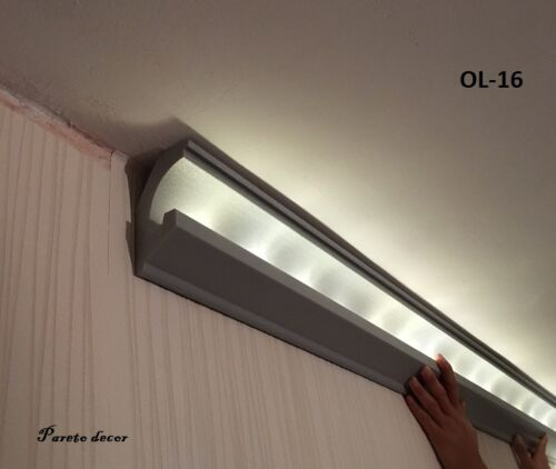 1 Stück Innenecke für OL-16 LED Dekor Stuckleiste für indirekte Beleuchtung XPS