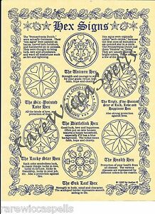 Details about Hex Signs Wicca Book of Shadows Pagan Occult Spell 1pg  parchment