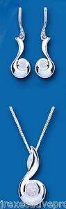 Jewelry & Watches Imported From Abroad Plata Maciza Colgante Y Juego De Pendientes Auténtico Ópalo Finely Processed Diamonds & Gemstones