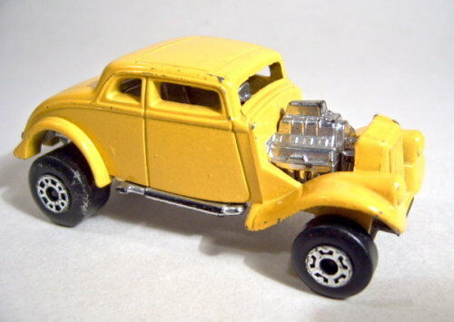 Matchbox 1-75 Superfast 69d'33 Willys Hot Rod Pre-Pro Termin in Yellow