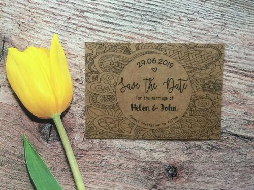 Envelopes Day Diamante f57a7 aimant Personalised Wedding Save the Date Cards