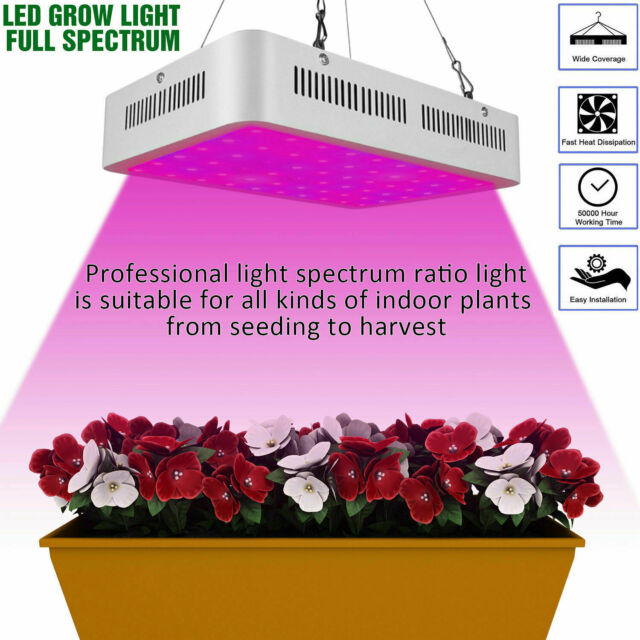 600W LED Plant Grow Light for Indoor Plants Sunlike Full Spectrum US Fast Ship