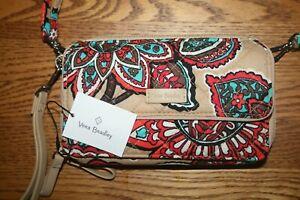 Vera-Bradley-Iconic-RFID-All-In-One-Crossbody-Desert-Floral-wristlet-wallet-NEW