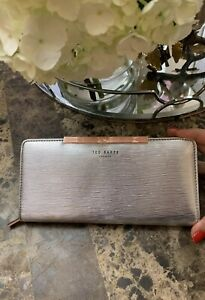6643ee1ca19 Image is loading Ted-Baker-London-Yasmine-Plisse-Leather-Matinee-Wallet-