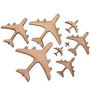 Details About Aeroplane Plane Shapes Embellishments Decorations 2mm Mdf Wood