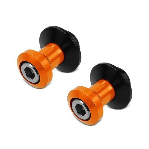 Swing Arm Spools Kawasaki Z 1000 SX Motea Silverstone M8 Bobbins orange
