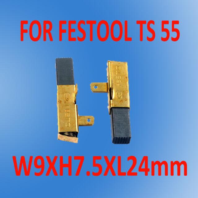 Carbon Brushes For FESTOOL TS 55 TS 75 CIRCULAR SAW 492014 491704 EBQ 230V  OZ