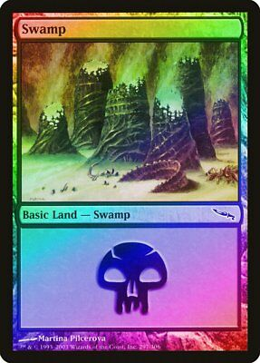 295 Swamp FOIL Mirrodin PLD Basic Land MAGIC THE GATHERING CARD ABUGames