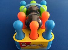 Bowling set with 10 pins and two balls, for ages 4 and up, New