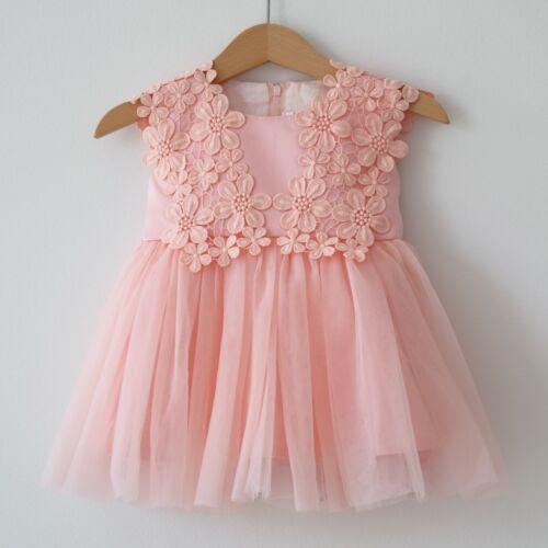 Taufkleid babykleid blumenmädenchen robe tulle taille 62-92