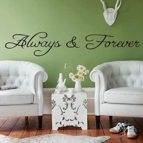 """/""""Always and Forever/"""" Wall Art Quote Vinyl Stickers Sweet Home Decoration xk ge*"""