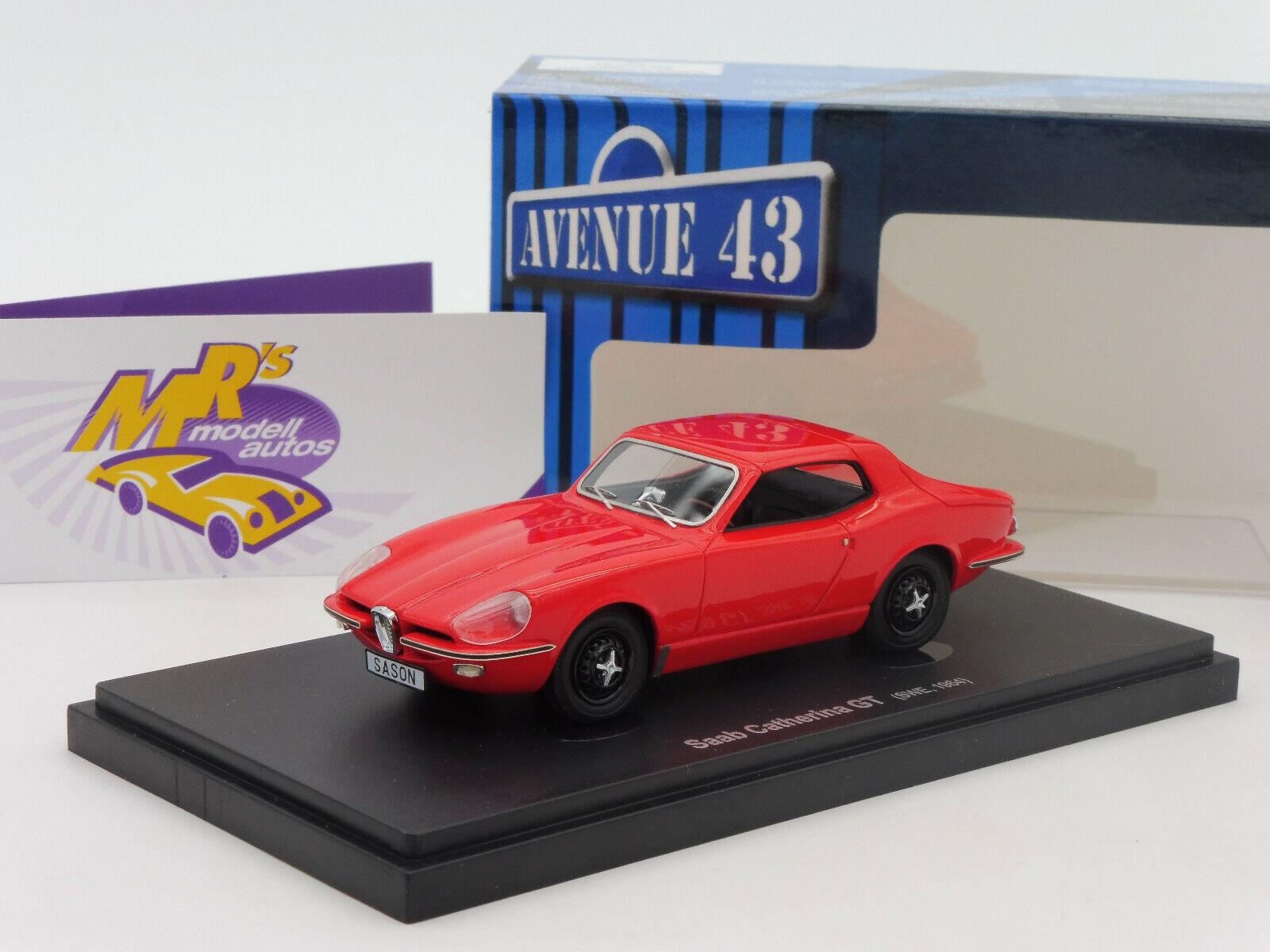 Autocult AVENUE 43 60026    SAAB Catherina GT coupé année de fabrication 1964 in  Rouge  1 43  pas cher en ligne