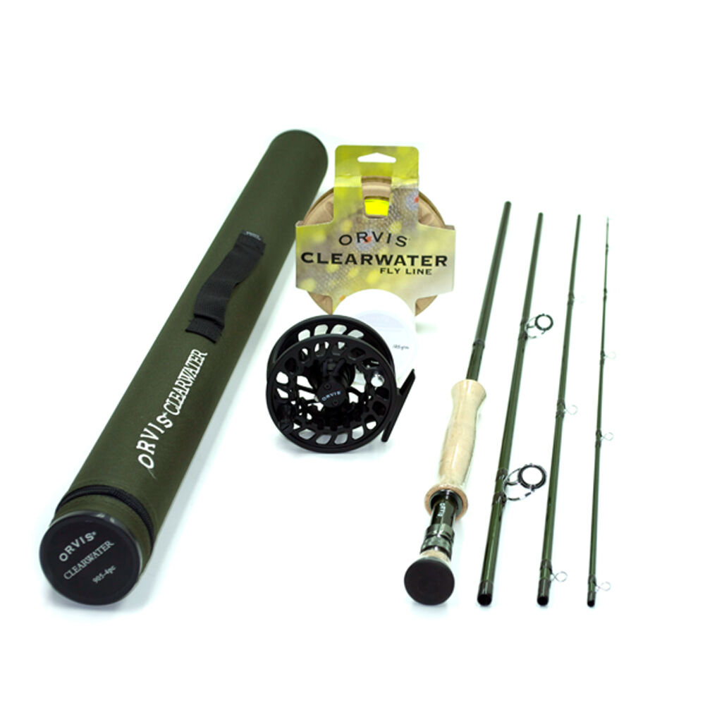 Orvis Clearwater 7wt 9ft  Fly Rod Outfit 907-4 FREE SHIPPING IN THE US  authentic