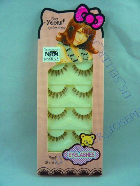 False eyelashes japanese dolly wink style No.1 Glamorous 5 pairs T19 Brown