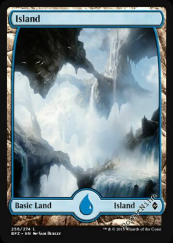 1 Island #256 ~ Basic Land Battle for Zendikar Mtg Magic Basic Land 1x x1