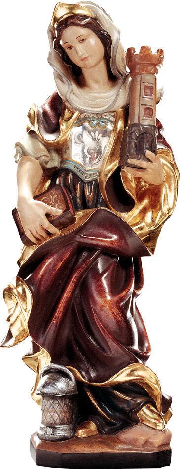 Statue santa Barbara in Holz, st. Barbara Barbara Barbara Holzschnitzerei a6504c
