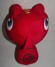 "Red Snake Plush 11"" Stuffed Animal Black Big Eye Head Tongue Out Chinese Asian"