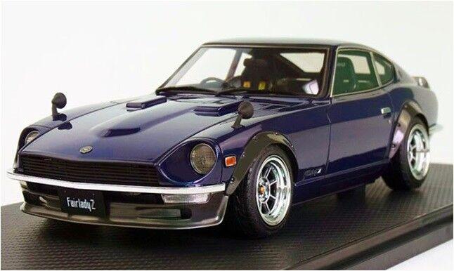 1 18 IG ignition  IG0686 Nissan Fairlady Z (S30) bluee