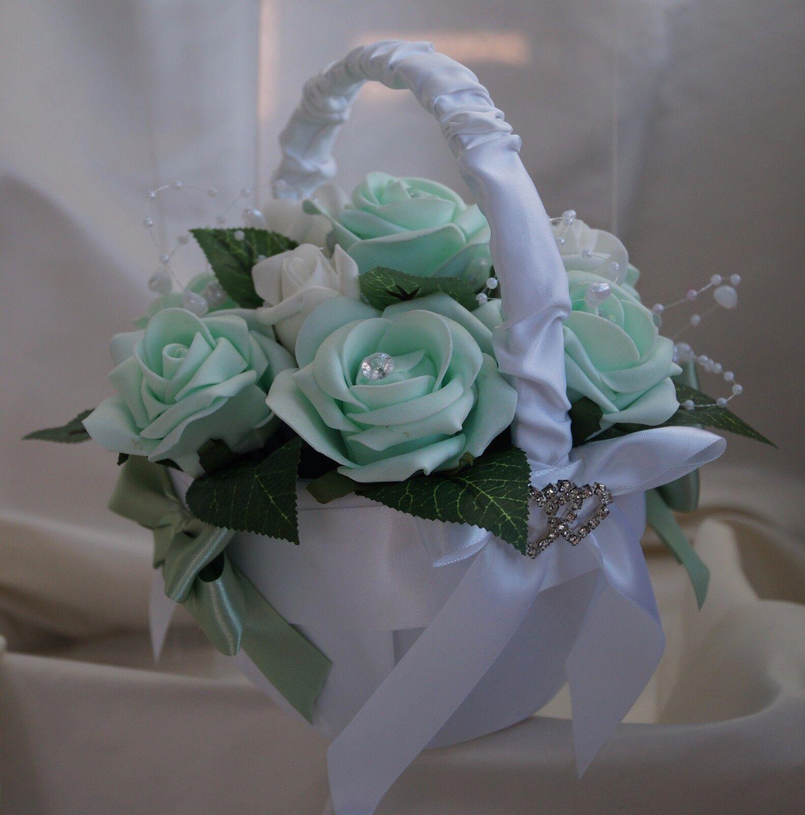 Nozze Fiori, Spose, Damigelle Bouquet Bianco Farfalla, Menta verde & Bianco Bouquet Avorio be7d7c