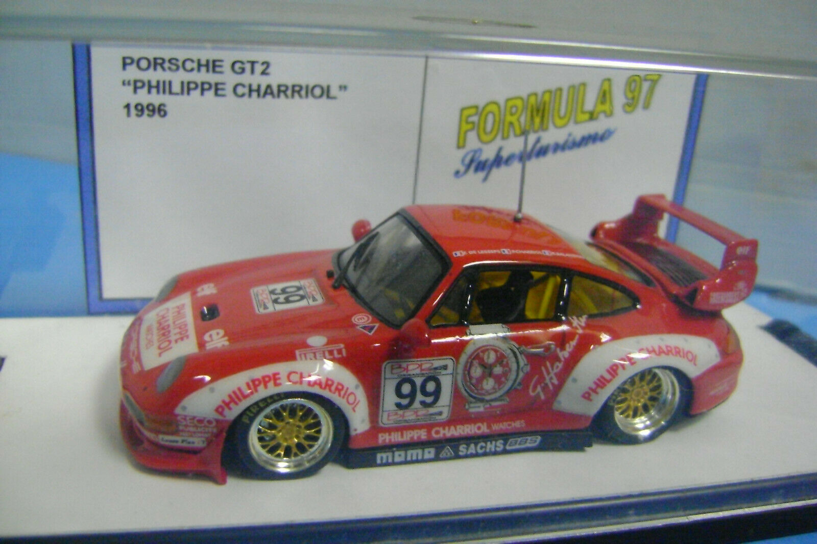 Porsche gt2 Philippe Charriol 1996 Formula 97 1 43 and special