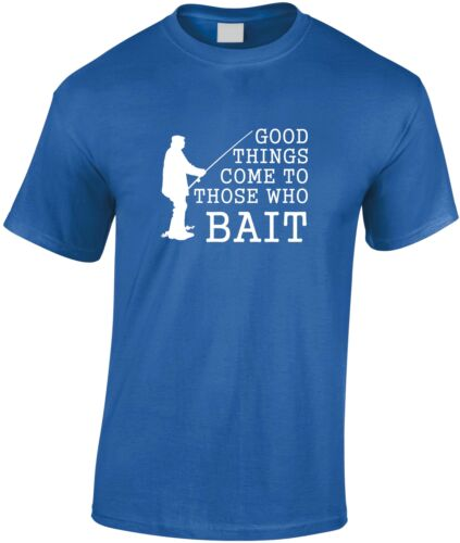 Good Things Come To Those Who Bait Children/'s T Shirt Kid/'s Fishing Tee Youth