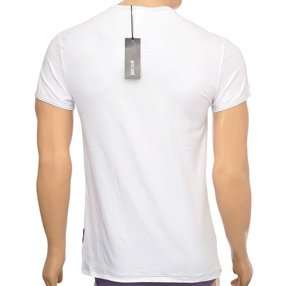 Just cavalli sous-vêtement homme coton stretch v, s s t-shirt col v ... 1d6e9e82937e