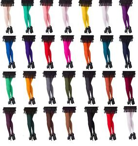 Opaque-Tights-Choose-From-26-Fashionable-Colours-40-amp-60-amp-100-Denier-SizesS-XL