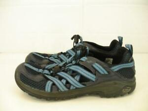 Chaco-Mens-11-M-44-Outcross-Evo-1-Salute-Hiking-Shoes-Trail-Running-Slip-On-Blue