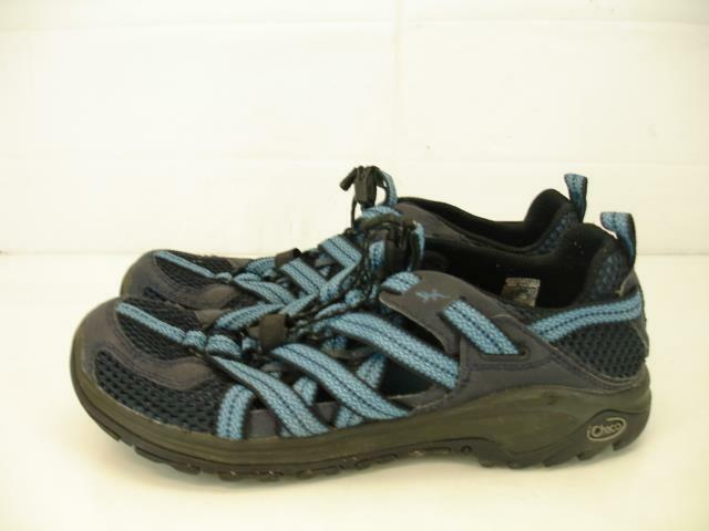 Chaco Mens 11 M 44 Outcross Evo 1 Salute Hiking Shoes Trail Running Slip-On Blue