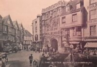 """THE BUTTER MARKET, CANTERBURY, KENT 7X5"""" REPRODUCED PRINT"""