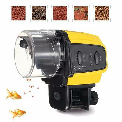 New Automatic Fish Food Feeder Dispenser Aquarium Tank Pond Auto Feeding Timer