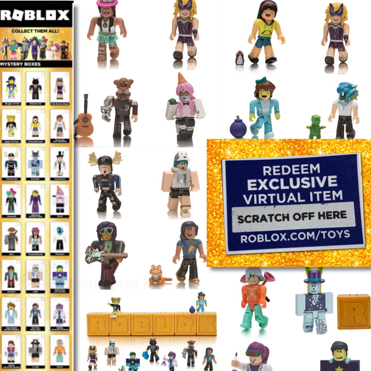 New Roblox Celebrity Gold Series 1 2 3 Mystery Box Action Figures
