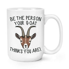 Be The Person Your Alpaca Thinks You Are 15oz Large Mug Cup Crazy Lady Man Funny