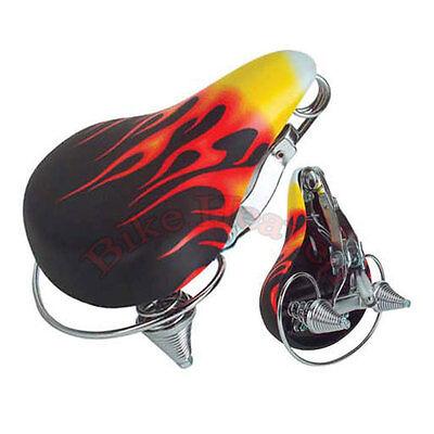"""16/"""" Banana Saddle Velour Black Bicycle Seat Cruiser Lowrider Bike Seat 820210"""