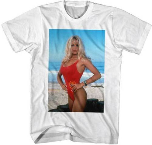 Parker Posing Photo Adult T Shirt Pam Anderson 1990/'s Baywatch TV Show C.J