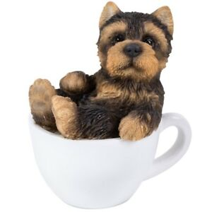 Mini Teacup Pups Series Yorkie Pup Figurine 3 New In Box Free