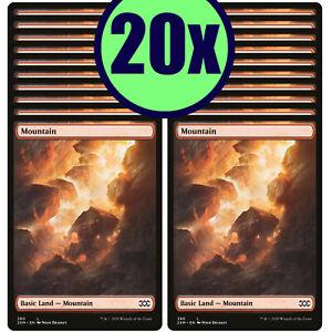 20x MOUNTAIN 380 Double Masters Full Art Basic Land NMLP MTG Magic the Gathering