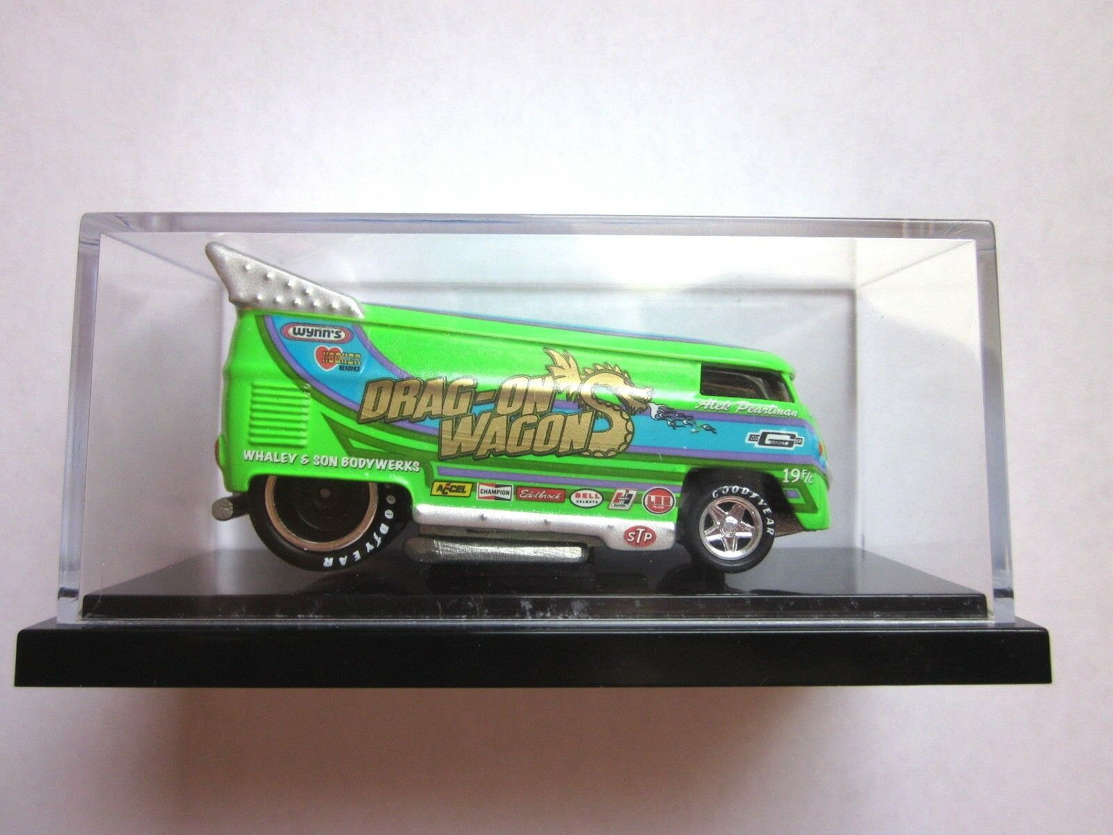 HOT WHEELS LIBERTY PROMOTIONS - verde DRAG-ON WAGON VW DRAG BUS - 539 of 1500