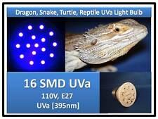 Turtle Snake Dragon Reptile 16 SMD LED UV UVA Light Bulb 110V E27 USA Certified